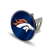 Denver Broncos Chrome Trailer Hitch Cover
