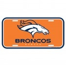 Denver Broncos License Plate (plastic)